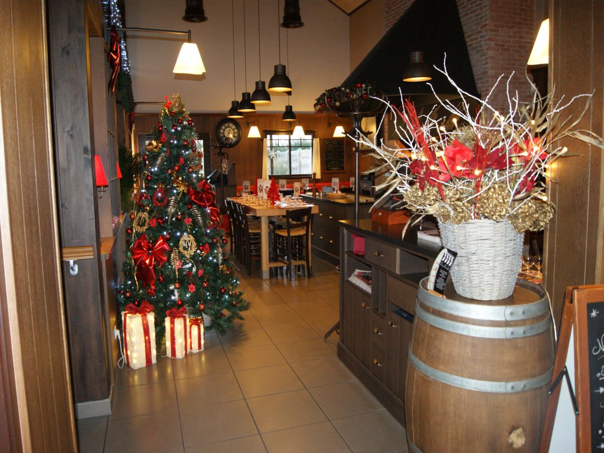 Decoration de noel pour restaurant